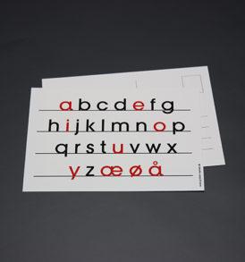 Postkort med alfabetet 1