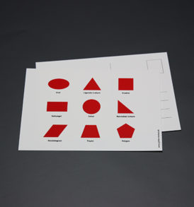 Postkort med geometriske figurer 3