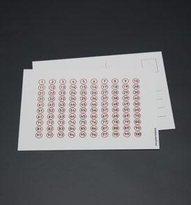 Postkort med tallene fra 1-100 6